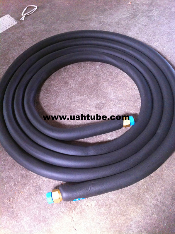 Rubber insulated copper aluminum welded tube for air conditioner
